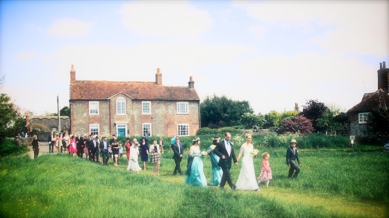 Bosham Church Wedding and Marquee on the Green
