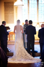 Houghton Church, stunning bridal gown