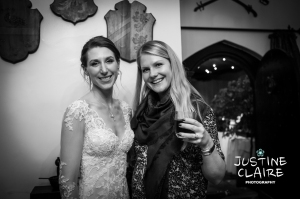 Bride and friend at Amberley