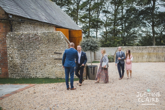 wedding photographer at Cissbury barn Findon Barn Venue Sussex reportage-10