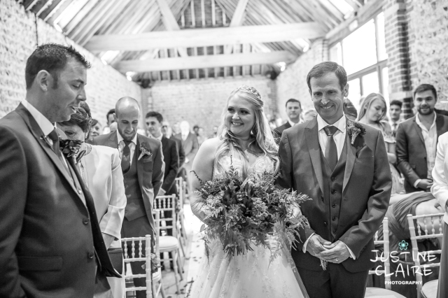 wedding photographer at Cissbury barn Findon Barn Venue Sussex reportage-27