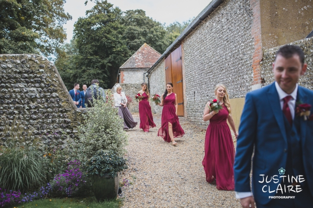 wedding photographer at Cissbury barn Findon Barn Venue Sussex reportage-51