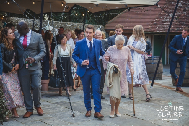 wedding photographer at Cissbury barn Findon Barn Venue Sussex reportage-87